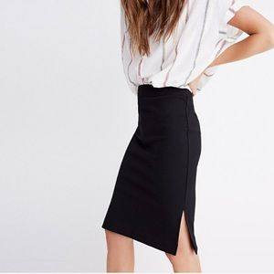 Madewell black midi skirt NWT